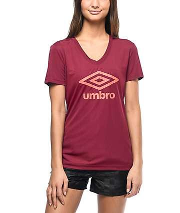 Umbro Athletic camiseta logo en color vino