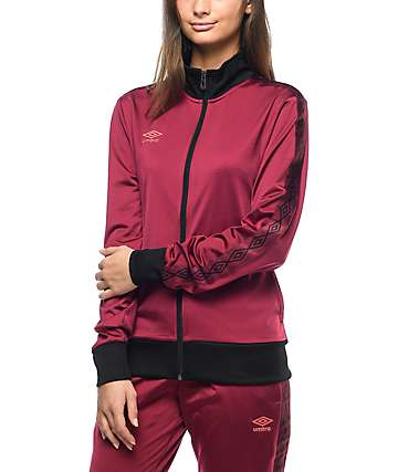 Umbro Burgundy Diamond Track Jacket