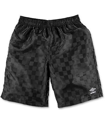 Umbro Checker Black Athletic Shorts