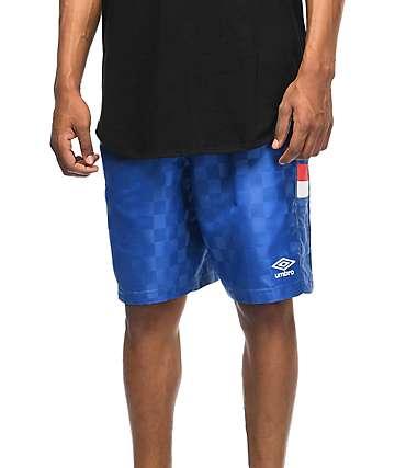 Umbro Checker Royal Blue Athletic Shorts