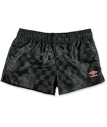 Umbro Checkerboard Black Athletic Shorts