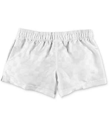 Umbro Checkerboard White Athletic Shorts