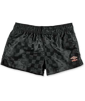Umbro Checkerboard shorts deportivos en negro