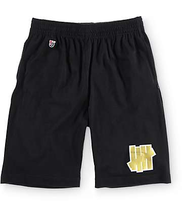 Undefeated 5 Strike Black Jersey Shorts