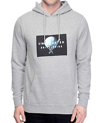 Undefeated Atlas Heather Grey Hoodie