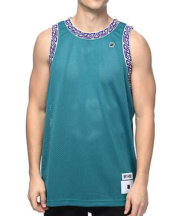 Undefeated Authentic Dark Teal Basketball Jersey