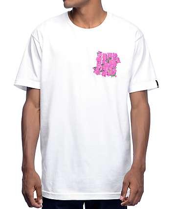 Undefeated Flores camiseta blanca