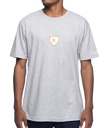 Undefeated Home Plate Grey T-Shirt