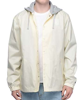 Undefeated Off White Hooded Coaches Jacket