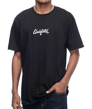 Undefeated Script Black T-Shirt