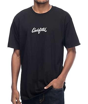 Undefeated Script camiseta negra