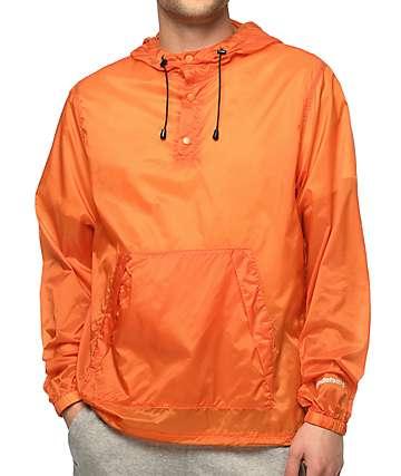 Undefeated U chaqueta cortavientos anorak en color naranja