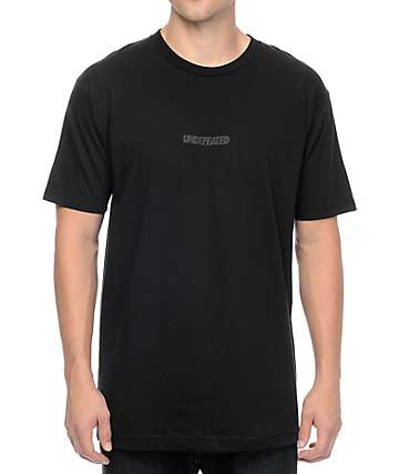 Undefeated Unbalanced Black T-Shirt