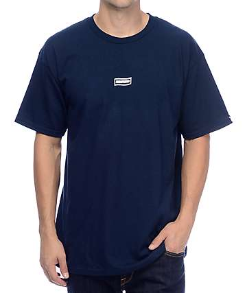 Undefeated Wavy Flag Navy T-Shirt