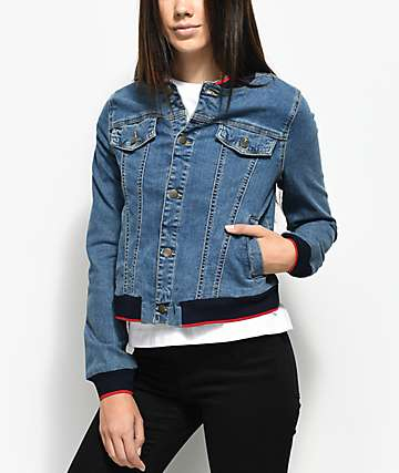 Union Bay Vintage Lorimer Denim Bomber Jacket
