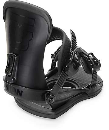Union Contact Black Snowboard Bindings