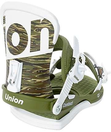 Union Contact Camo Snowboard Bindings