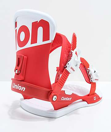 Union Contact Red Snowboard Bindings