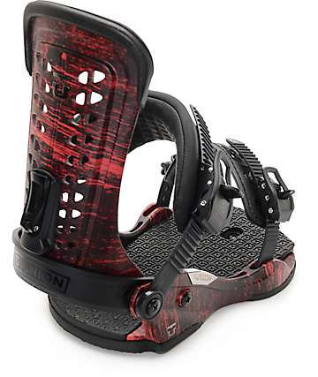Union Force Distressed Red Snowboard Bindings