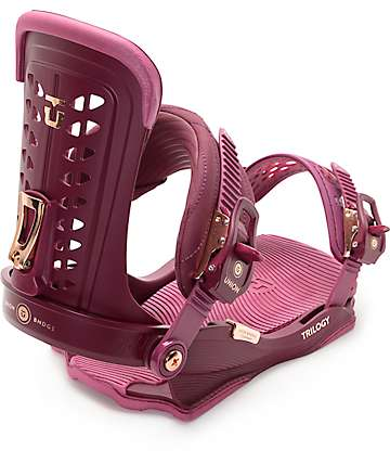 Union Trilogy Burgundy Womens Snowboard Bindings