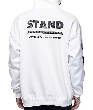 VSOP Akomplice Standing Rock sudadera blanca con capucha
