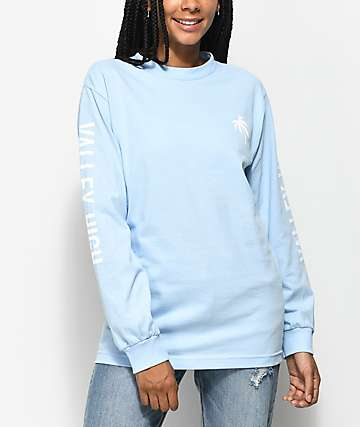 Valley High Blue Long Sleeve T-Shirt