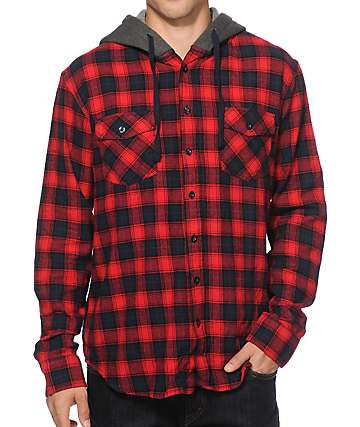 Valor Chirp Hooded Flannel Shirt