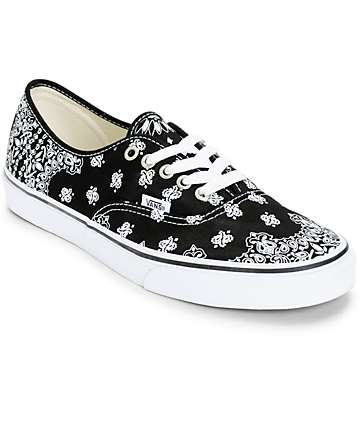 Van Authentic Bandana Skate Shoes (Mens)