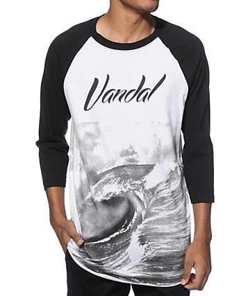 Vandal Marble Block Baseball T-Shirt