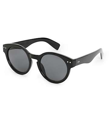 Vanessa Black Round Sunglasses