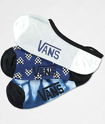 Vans 3 Pack Heart Checker Canoodle No Show Socks