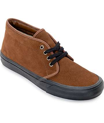 Vans 50th Chukka Mid Pro Brown & Black Skate Shoes