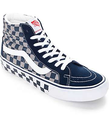 Vans 50th Sk8-Hi Reissue Pro Checkerboard Skate Shoes