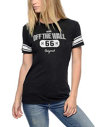 Vans 66 Play Action Black Boyfriend T-Shirt