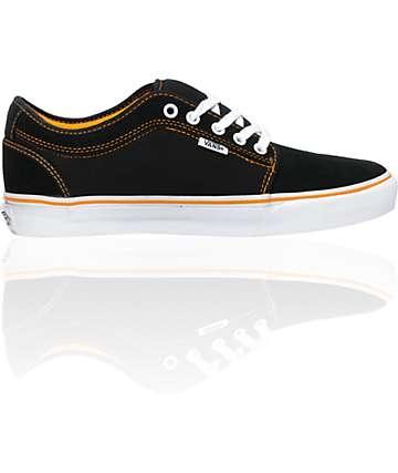 Vans Andrew Allen Chukka Low Black & Orange Skate Shoes (Mens)