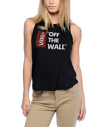 Vans Anthem Black Muscle Tank Top