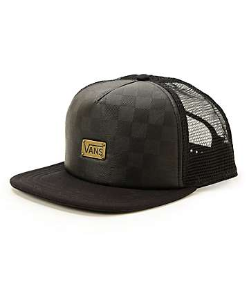 Vans Attendance Faux Leather Trucker Hat