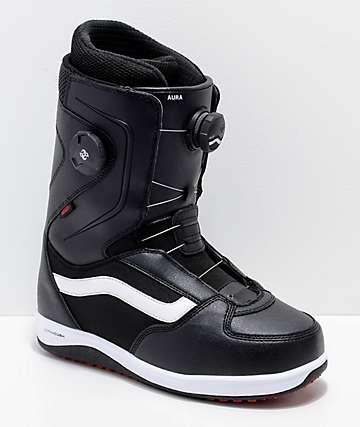 Vans Aura Dual Boa Black, White & Red Snowboard Boots