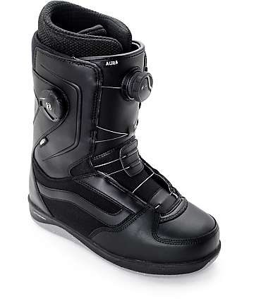 Vans Aura Dual Boa Black Snowboard Boots