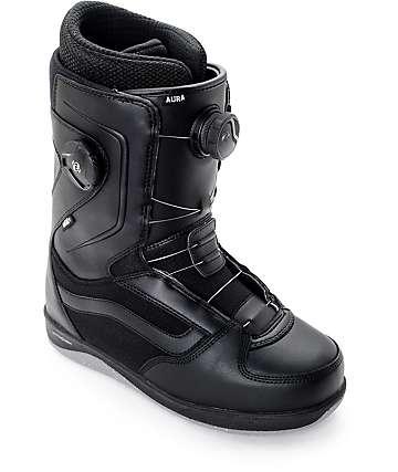 Vans Aura Dual Boa botas negras de snowboard