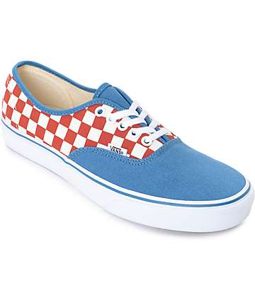 Vans Authentic 50th Checkerboard & Blue Ashes Skate Shoes (mens)