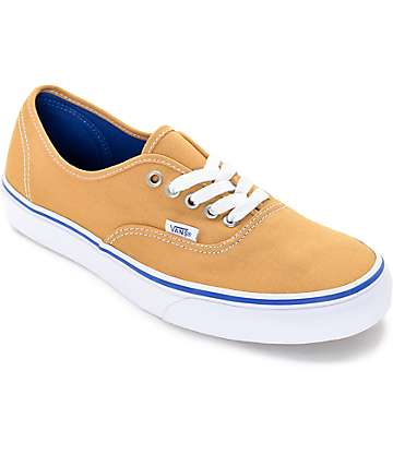 Vans Authentic Amber and White Skate Shoes (Mens)