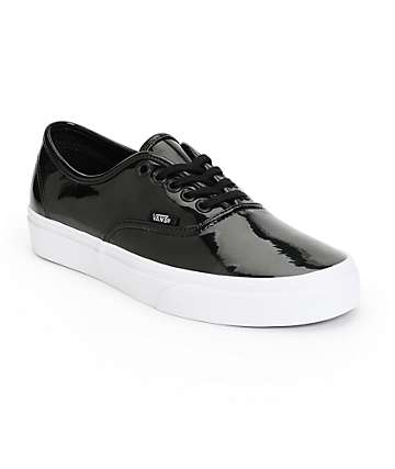 Vans Authentic Black Patent Leather Shoes