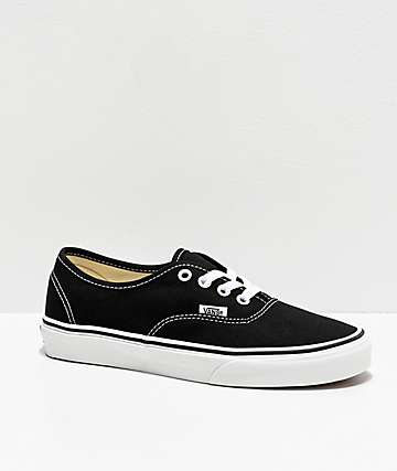Vans Authentic Black Skate Shoes (Mens)