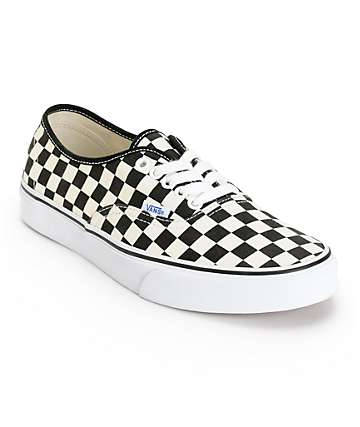 Vans Authentic Checkerboard Skate Shoes (Mens)