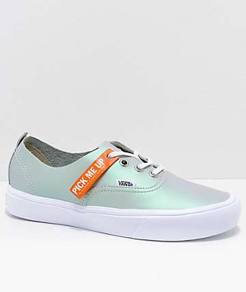 Vans Authentic Decon Lite Muted Metallic Grey & White Skate Shoes