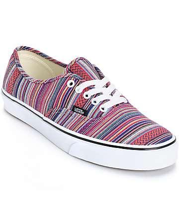 Vans Authentic Guate Weave Skate Shoes (Mens)