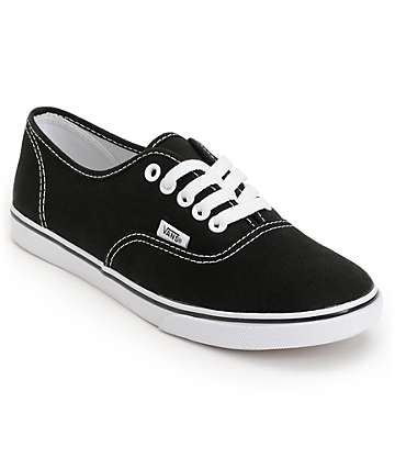 Vans Authentic Lo Pro Black Shoes (Womens)