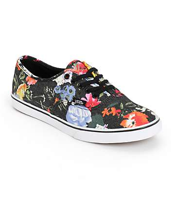 Vans Authentic Lo Pro Floral Shoes (Womens)