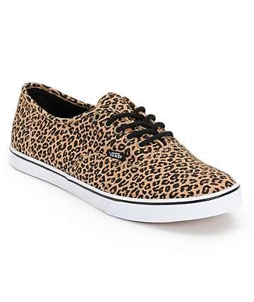 Vans Authentic Lo Pro Leopard Herringbone Shoes (Womens)